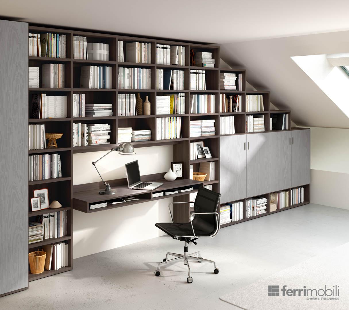 Prezzo Libreria Su Misura.Librerie Living 72 Libreria Ferrimobili