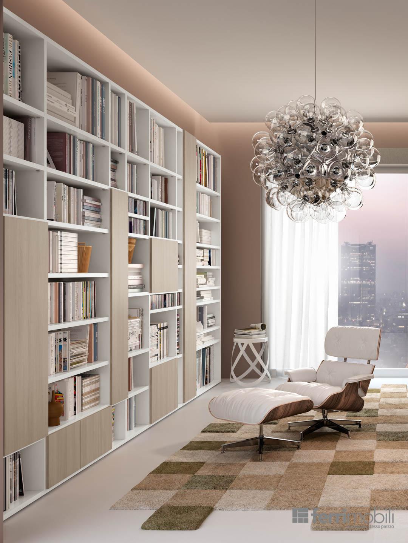 Prezzo Libreria Su Misura.Libreria Su Misura 75 Librerie Living Ferrimobili