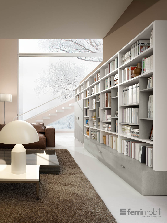 Prezzo Libreria Su Misura.Libreria Su Misura 78 Librerie Living Ferrimobili