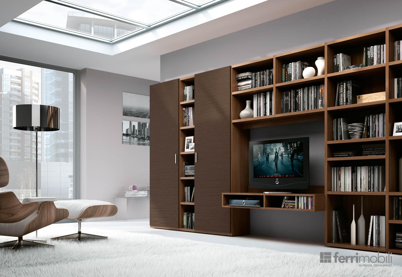Prezzo Libreria Su Misura.Libreria Su Misura 79 Librerie Living Ferrimobili