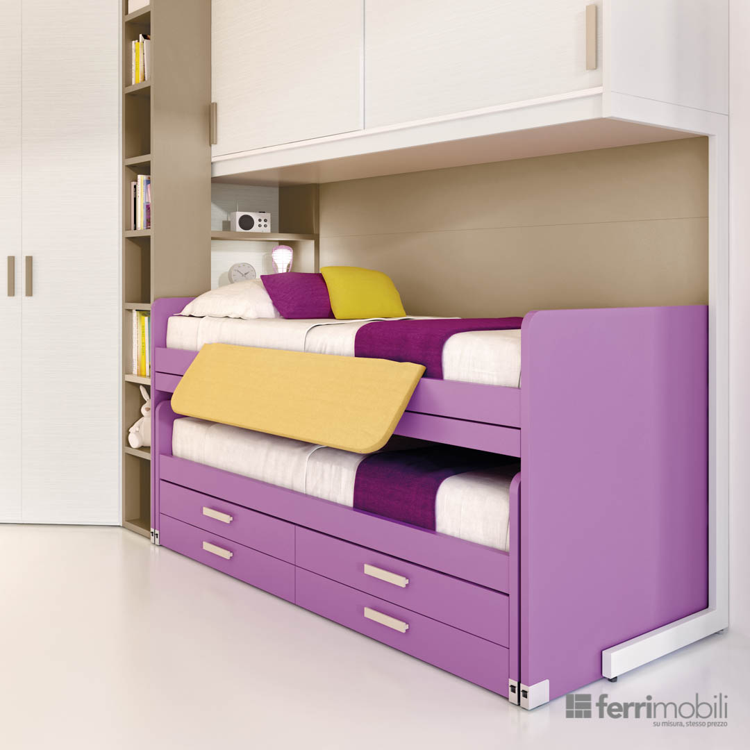Camerette 622 ferrimobili for Camerette per bambini piccoli spazi