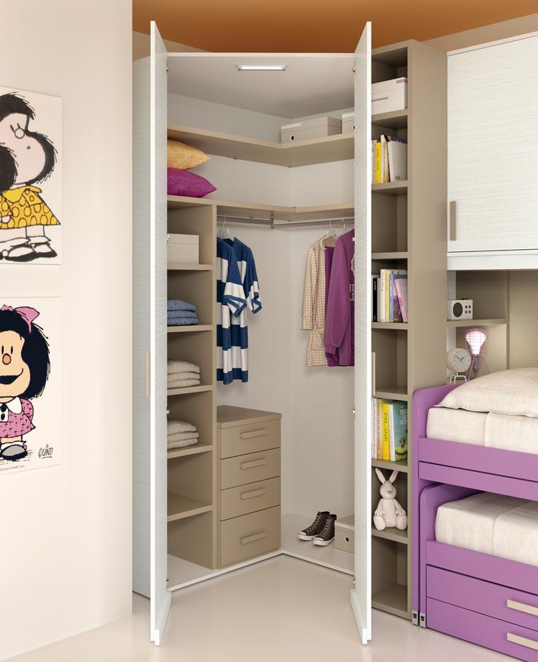 Camerette per bambini piccoli spazi camerette con letto a for Arredamento camerette piccoli spazi